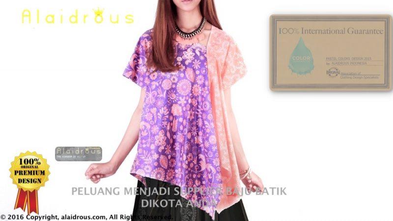 5 Model Baju Batik Wanita Terbaru Limited Pastel