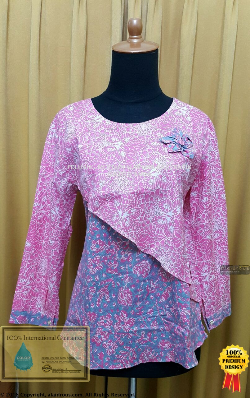 Baju Batik Tunik Pastel Colors Asli No Kw Best Seller