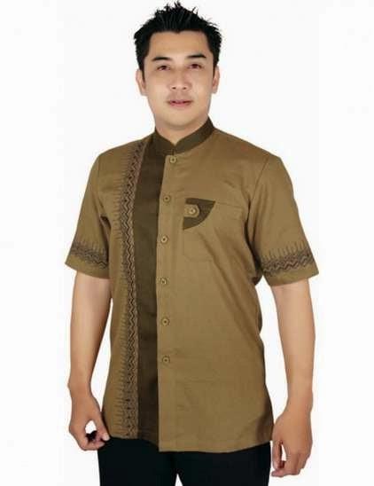 Model baju batik muslim pria