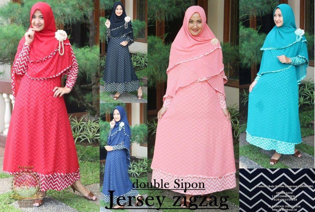 busana gamis dan hijab