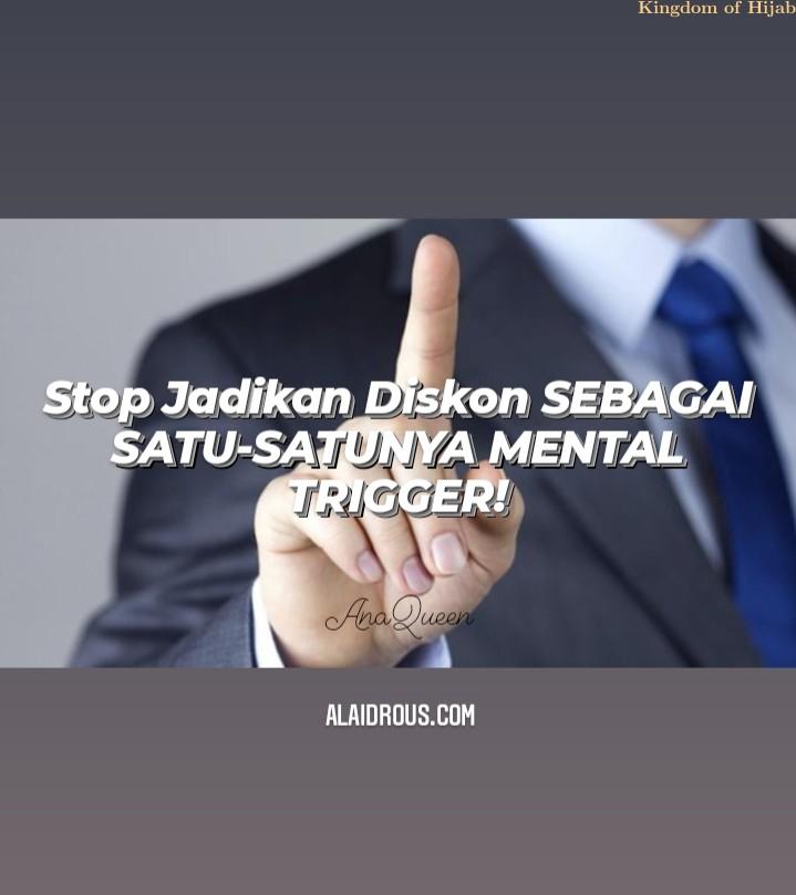 Stop Jadikan Diskon Sebagai Mental Trigger!