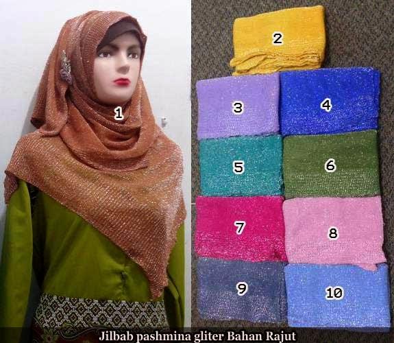 Model Hijab Pashmina Glitter